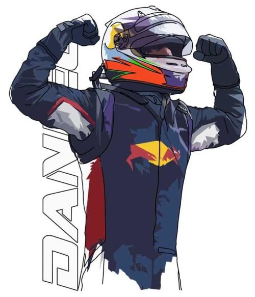 Daniel F1 Póló - Ha Formula 1 rajongó ezeket a pólókat tuti imádni fogod!