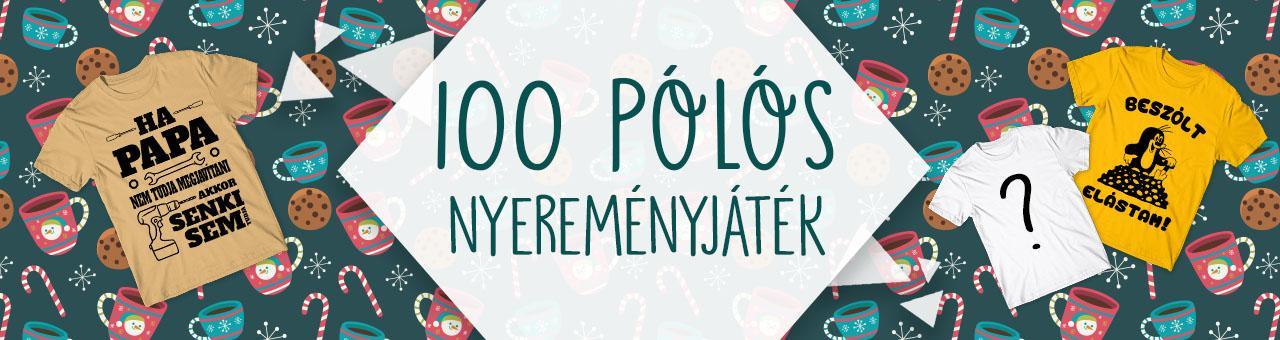 100 póló nyereményjáték 2018 November