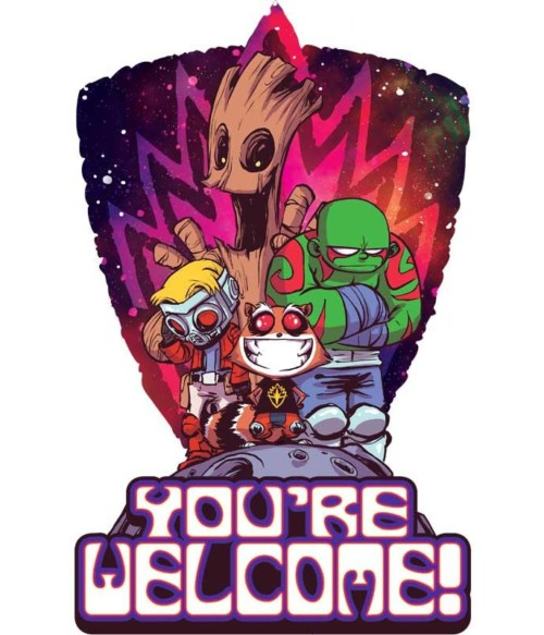 Guardians cartoon Póló - Ha Guardians of the Galaxy rajongó ezeket a pólókat tuti imádni fogod!