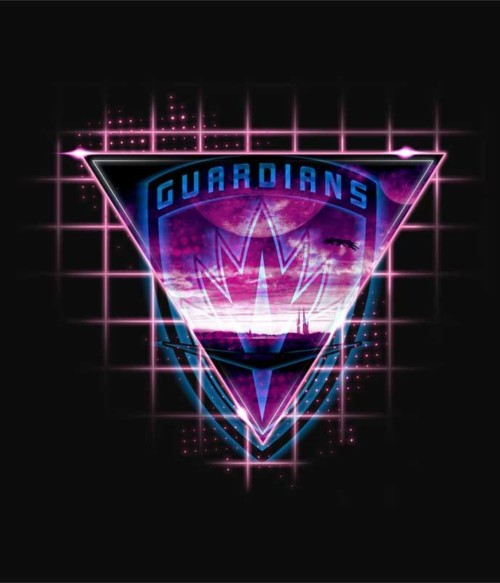 Guardians neon triangle Póló - Ha Guardians of the Galaxy rajongó ezeket a pólókat tuti imádni fogod!