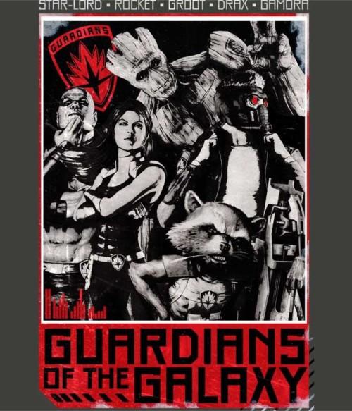 Guardians team grunge Póló - Ha Guardians of the Galaxy rajongó ezeket a pólókat tuti imádni fogod!