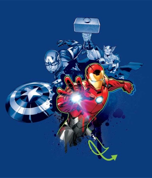 Avengers Team Graffiti Póló - Ha Avengers rajongó ezeket a pólókat tuti imádni fogod!
