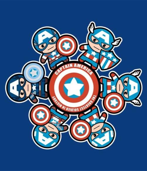 Captain America kawaii Póló - Ha Captain America rajongó ezeket a pólókat tuti imádni fogod!