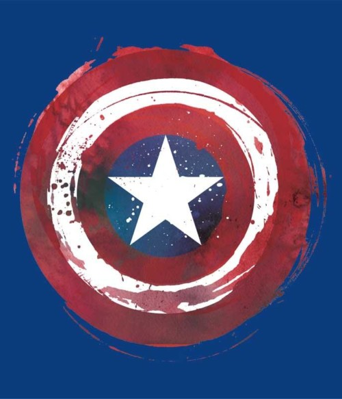 Painted shield Póló - Ha Captain America rajongó ezeket a pólókat tuti imádni fogod!