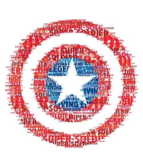 Text Shield Póló - Ha Captain America rajongó ezeket a pólókat tuti imádni fogod!