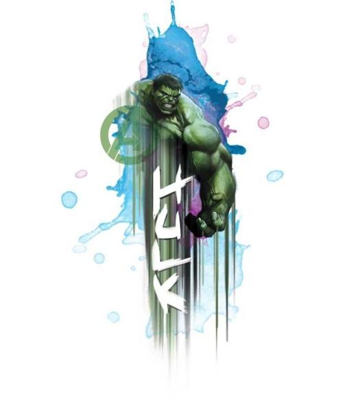 Hulk watercolor Póló - Ha Hulk rajongó ezeket a pólókat tuti imádni fogod!