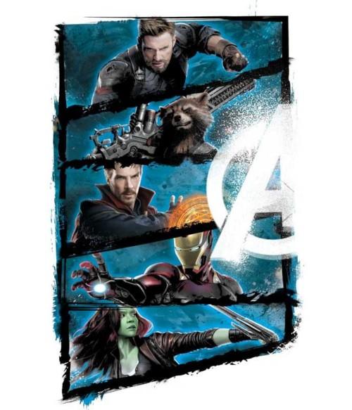 Infinity War Frame Póló - Ha Avengers rajongó ezeket a pólókat tuti imádni fogod!