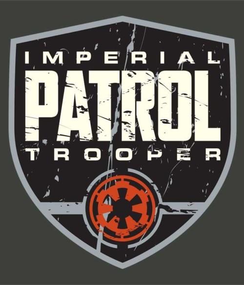 Patrol trooper badge Póló - Ha Star Wars rajongó ezeket a pólókat tuti imádni fogod!