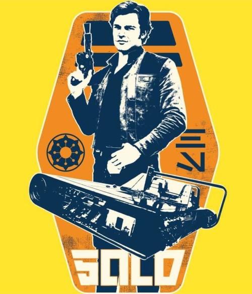 Retro Solo badge Póló - Ha Star Wars rajongó ezeket a pólókat tuti imádni fogod!