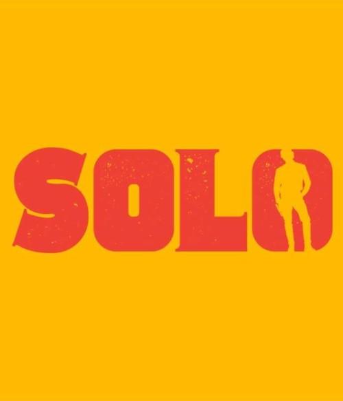 Solo silhouette logo Póló - Ha Star Wars rajongó ezeket a pólókat tuti imádni fogod!