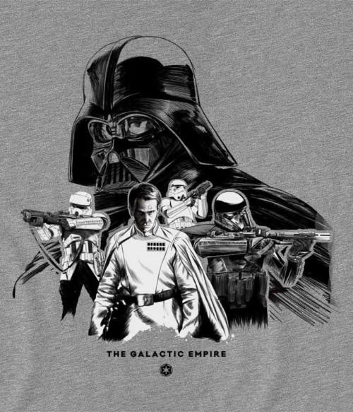 The Galactic Empire Sketch Póló - Ha Star Wars rajongó ezeket a pólókat tuti imádni fogod!