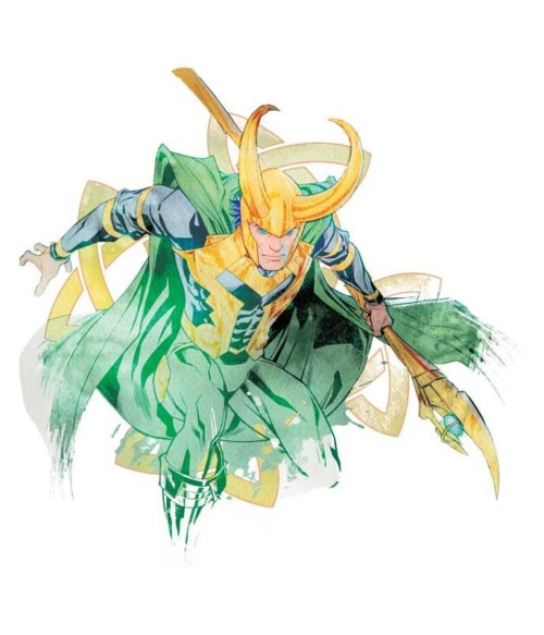 Loki watercolor Póló - Ha Thor rajongó ezeket a pólókat tuti imádni fogod!