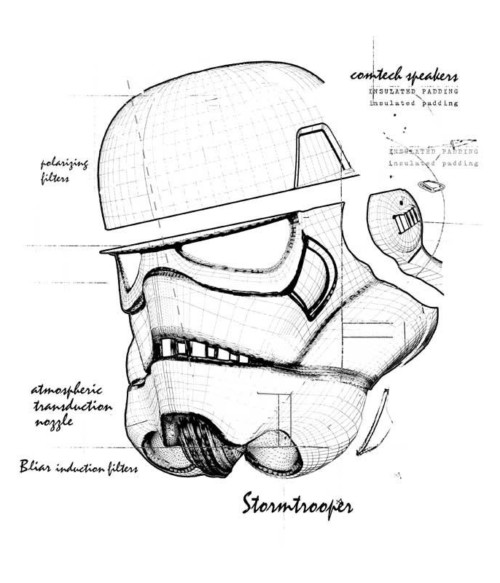 Stormtrooper helmet draw Póló - Ha Star Wars rajongó ezeket a pólókat tuti imádni fogod!