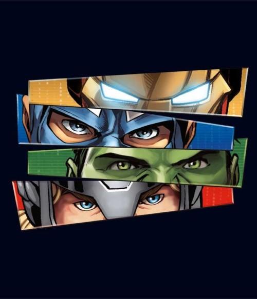Avengers Eyes Póló - Ha Avengers rajongó ezeket a pólókat tuti imádni fogod!