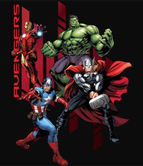 Avengers Stripes Póló - Ha Avengers rajongó ezeket a pólókat tuti imádni fogod!