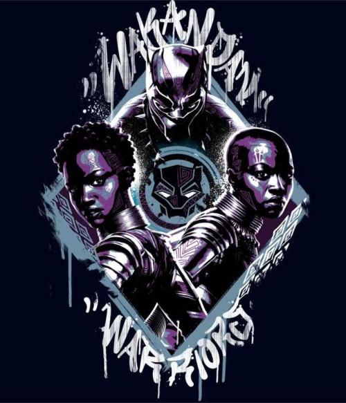 Wakanda Warriors Póló - Ha Black Panther rajongó ezeket a pólókat tuti imádni fogod!