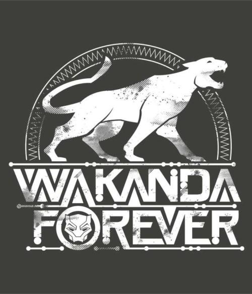 Wakanda forever logo Póló - Ha Black Panther rajongó ezeket a pólókat tuti imádni fogod!