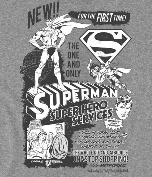 Super hero services Póló - Ha Superman rajongó ezeket a pólókat tuti imádni fogod!