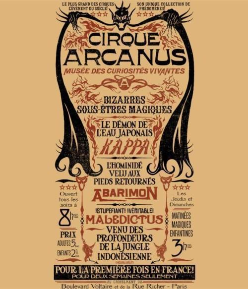Cirque Arcanus Póló - Ha Fantastic Beasts: The Crimes of Grindelwald rajongó ezeket a pólókat tuti imádni fogod!