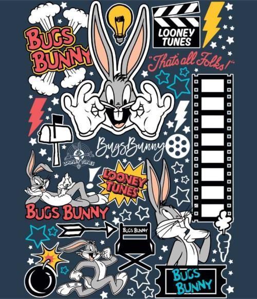 Bugs Bunny Movie Star Póló - Ha Looney Tunes rajongó ezeket a pólókat tuti imádni fogod!